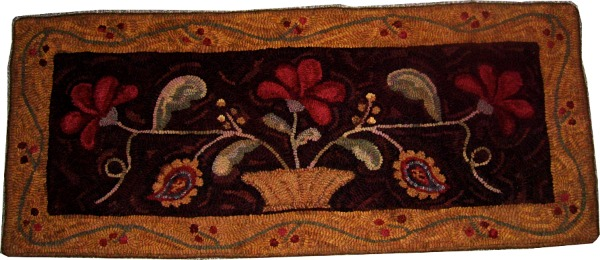 ANTIQUE FLORAL rug hooking pattern
