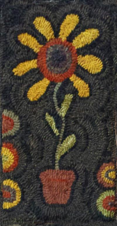 BLACK EYED SUSAN rug hooking pattern