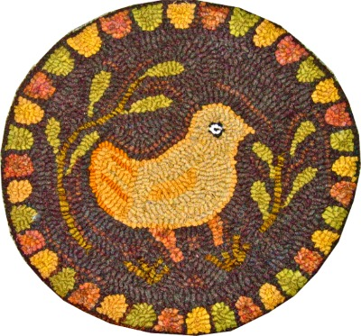 CHICK CHAIR PAD rug hooking pattern
