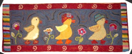 DUCK WALK rug hooking pattern