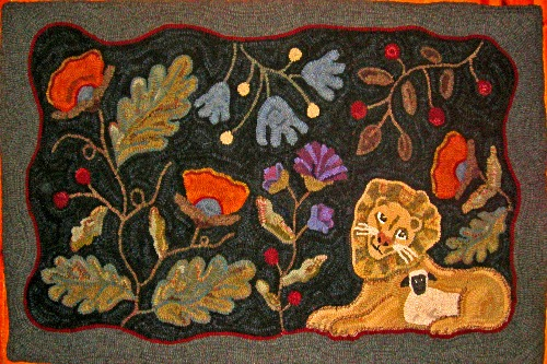 ENCHANTED GARDEN rug hooking pattern