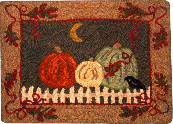 FALL AT NIGHT rug hooking pattern