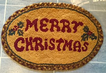 MERRY CHRISTMAS PATTERN ( on Linen )