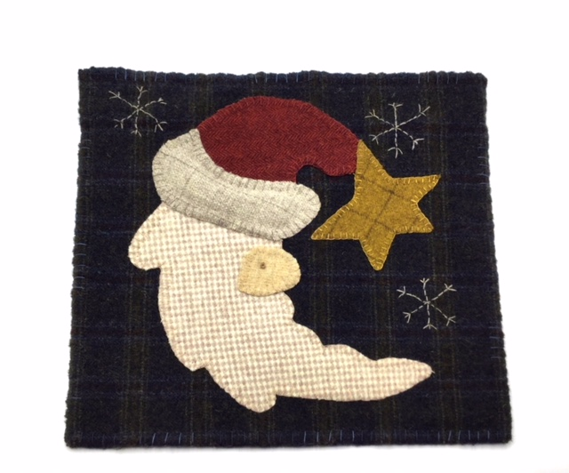 CRESCENT SAINT NICK rug hooking pattern