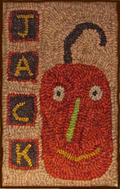 JACK rug hooking pattern