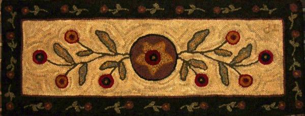 JU JU'S STARBURST rug hooking pattern