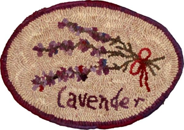 LAVENDER rug hooking pattern
