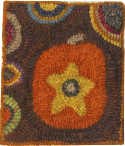 LITTLE PUMPKIN rug hooking pattern