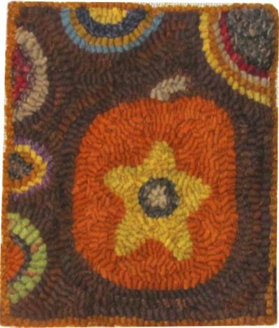 LITTLE PUMPKIN rug hooking patterns