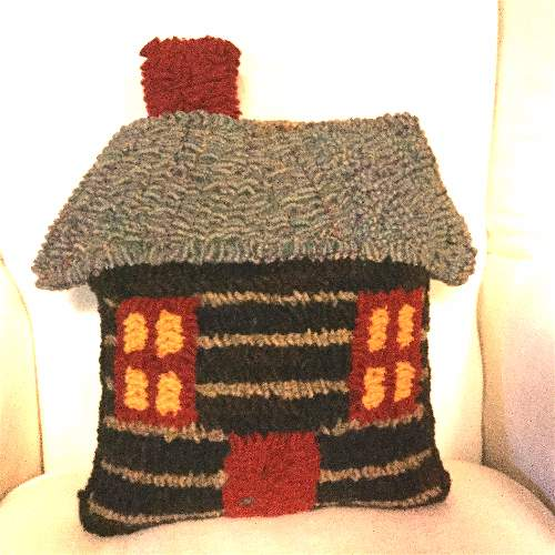 LOG CABIN CUT OUT PATTERN