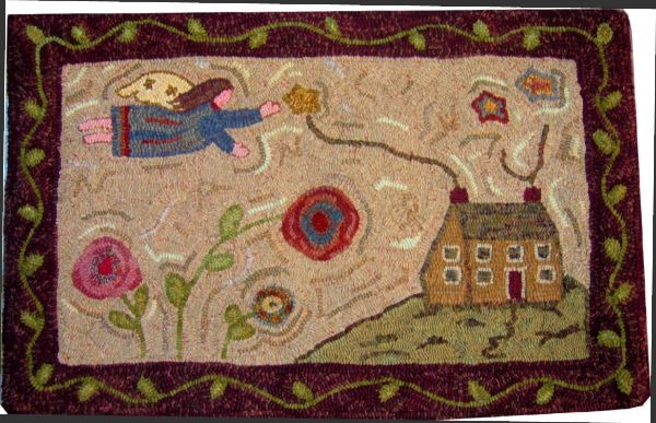 NANCY'S FLIGHT rug hooking pattern
