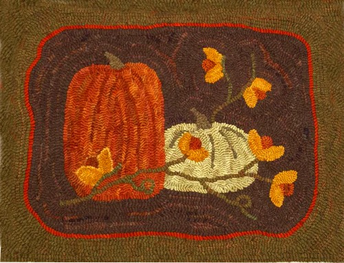PUMPKIN SPICE rug hooking pattern
