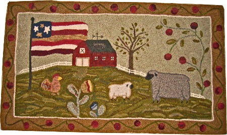 AMERICAN DREAM rug hooking pattern