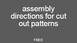 Free online Directions for small cut out patterns
