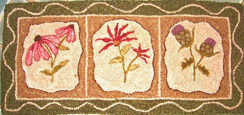 BOTANICAL GARDEN rug hooking pattern
