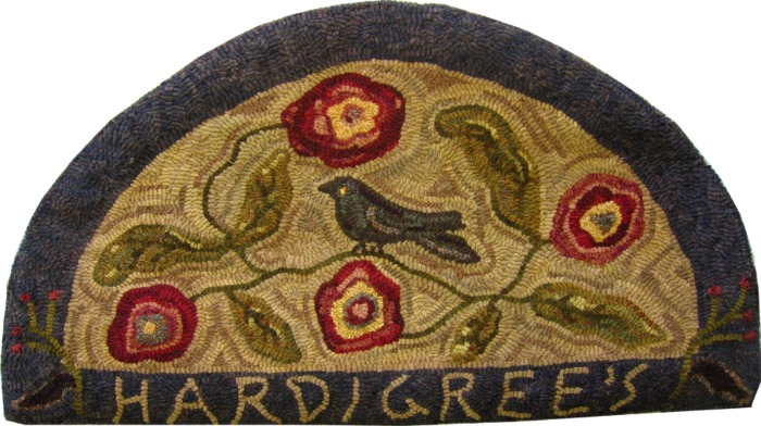 CROW HAVEN rug hooking pattern