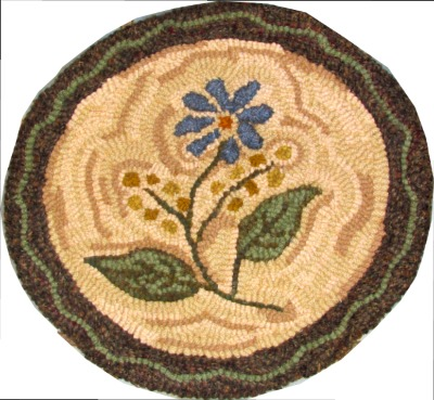 FLOWER CHAIR PAD rug hooking pattern