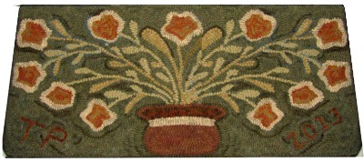 FLOWER POT rug hooking pattern