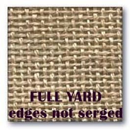 "FULL YARD PRIMITIVE LINEN ( not serged 63"" wide  )"