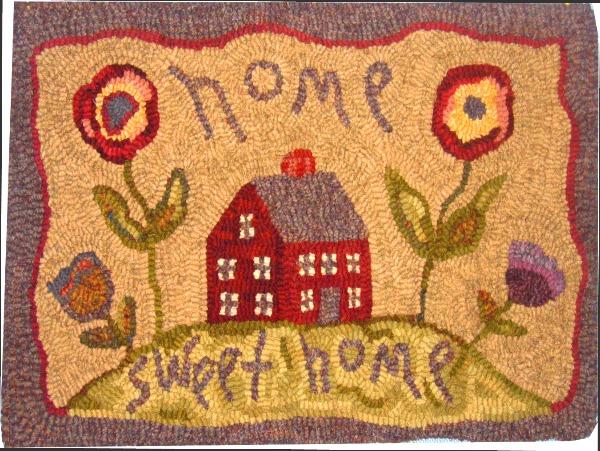 HOME SWEET HOME rug hooking pattern