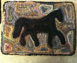 PRIMITIVE HORSE PATTERN 12 x 16