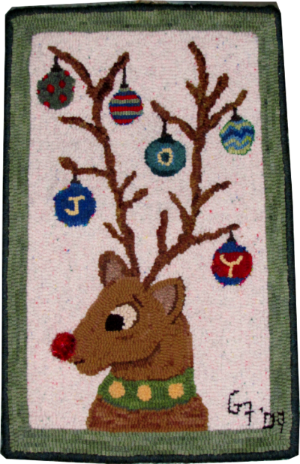 JOY rug hooking pattern