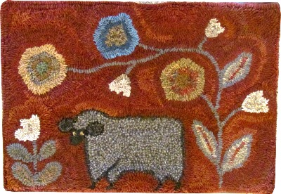 OUT TO PASTURE rug hooking pattern