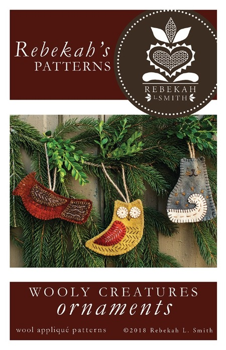 WOOLY CREATURES ORNAMENTS APPLIQUE PATTERN