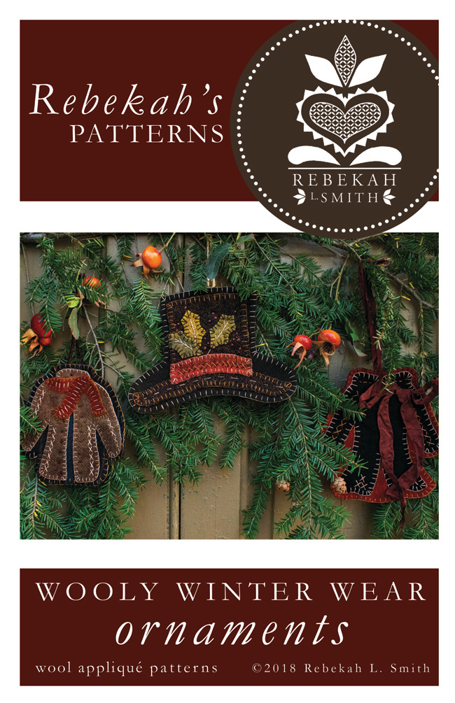 WOOLY WINTER ORNAMENTS APPLIQUE PATTERN