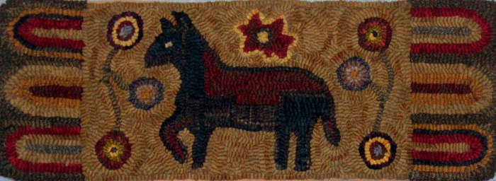 QUEEN rug hooking pattern