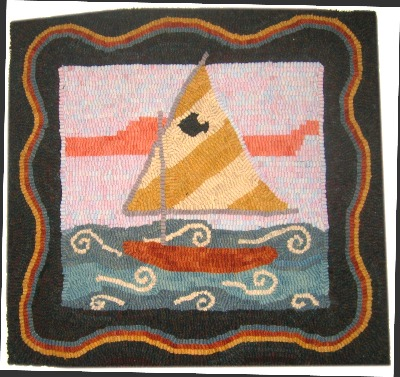 SAILING rug hooking pattern