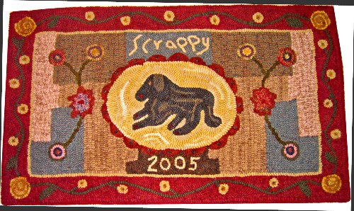 SCRAPPY rug hooking pattern