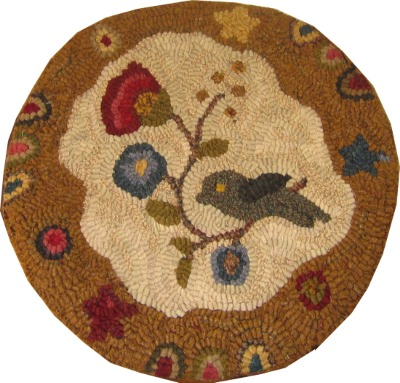 SPRING BOUNTY CHAIR PAD rug hooking pattern