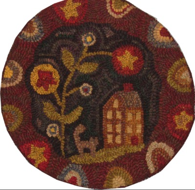 STARBUD BLOSSOM CHAIRPAD rug hooking pattern