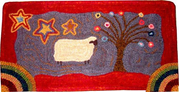 STARLIT EWE rug hooking pattern