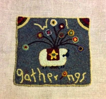 WOOL GATHERING rug hooking pattern