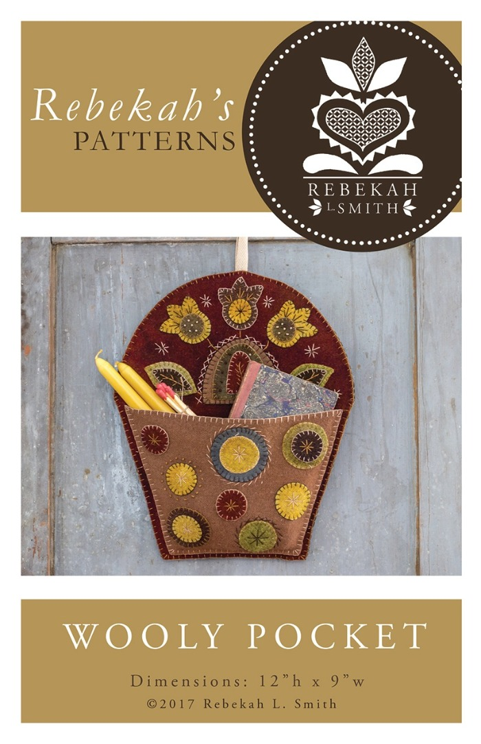 WOOLY POCKET WOOL APPLIQUE' PATTERN